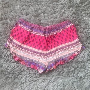 Cotton Candy Shorts - COTTON CANDY LA | Aztec Ruffle Shorts